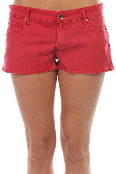Шорты джинсовые женские Roxy Andalousia Hibiscus<br><br>Цвет: красный<br>Тип: Шорты джинсовые<br>Возраст: Взрослый<br>Пол: Женский