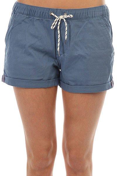 Шорты классические женские Roxy Easybeachyshort Captains Blue шорты классические женские roxy easybeachyshort j dnst anthracite