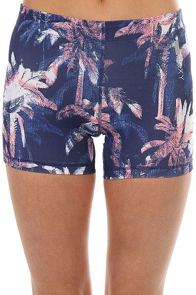 Шорты пляжные женские Roxy Stay On Short Blue Depths Washed<br><br>Цвет: синий,розовый,белый<br>Тип: Шорты пляжные<br>Возраст: Взрослый<br>Пол: Женский