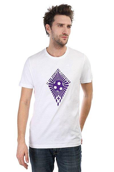 Футболка Le Coq Sportif Fiorentina Fanwear Tee 2 Optical<br><br>Цвет: белый<br>Тип: Футболка<br>Возраст: Взрослый<br>Пол: Мужской