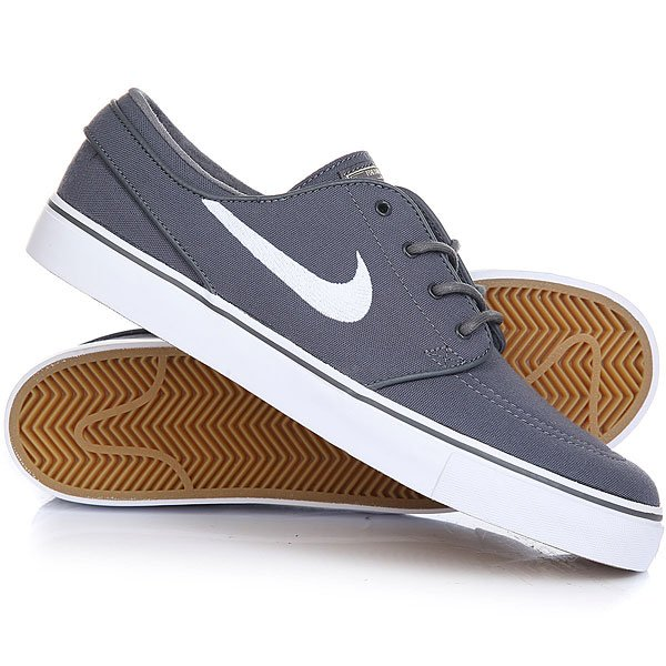 Кеды кроссовки низкие Nike Zoom Stefan Janoski Cnvs Dark Grey/White