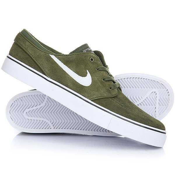 Кеды кроссовки низкие Nike Zoom Stefan Janoski Legion Green White Black