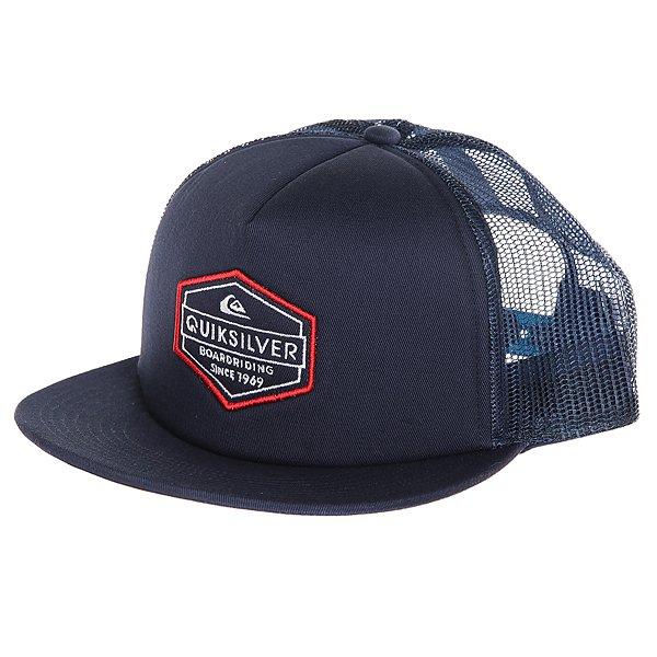 Бейсболка с сеткой Quiksilver Marbleson Navy Blazer<br><br>Цвет: синий<br>Тип: Бейсболка с сеткой<br>Возраст: Взрослый