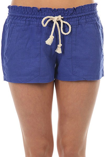 Шорты классические женские Roxy Oceanside Short Royal Blue<br><br>Цвет: синий<br>Тип: Шорты классические<br>Возраст: Взрослый<br>Пол: Женский