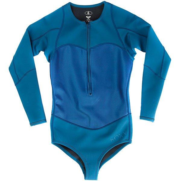 Гидрокостюм (Комбинезон) женский Roxy Pop1mbikinisprg Blue AsterУдобный гидрокостюм для теплой воды с длинными рукавами, которые добавят комфорта и не позволят рукам сгореть на солнце во время длительного пребывания на воде.Характеристики:Ультралегкий неопрен толщиной 1 мм.Длинный рукав. Микропористая структура неопрена FN Lite представляет собой множество пузырьков воздуха, что обеспечивает ему малый вес и при этом позволяет эффективно удерживать тепло. Швы прострочены фирменным закрытым стежком. Нагрудная молния YKK®.<br><br>Цвет: синий<br>Тип: Гидрокостюм (Комбинезон)<br>Возраст: Взрослый<br>Пол: Женский