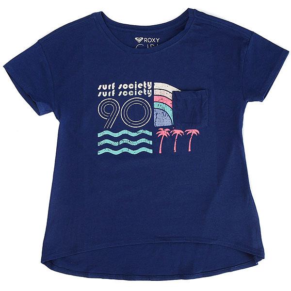 Лонгслив детский Roxy Indiancamp Blue Depths<br><br>Цвет: синий,бежевый<br>Тип: Лонгслив<br>Возраст: Детский