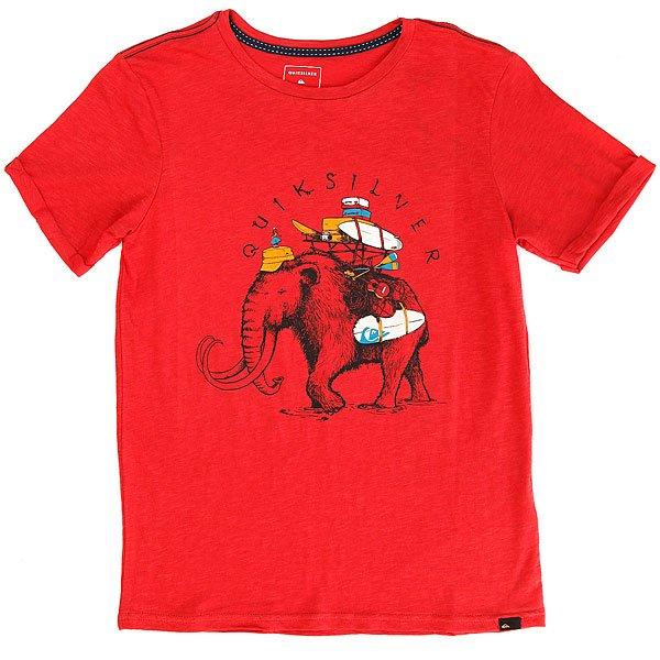 Футболка детская Quiksilver Sssluteythmomot Cardinal<br><br>Цвет: красный<br>Тип: Футболка<br>Возраст: Детский