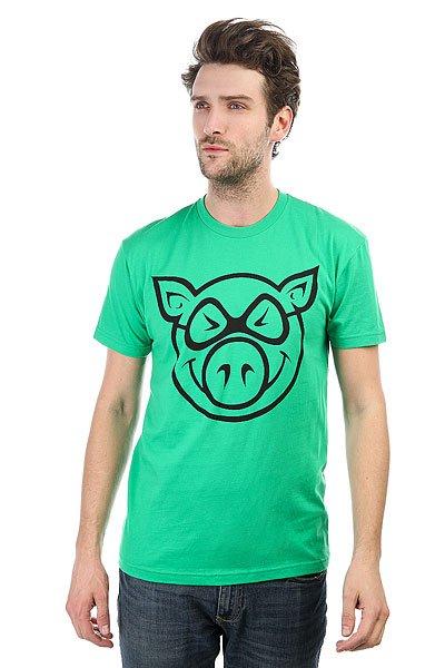 Футболка Pig Basic Green<br><br>Цвет: зеленый<br>Тип: Футболка<br>Возраст: Взрослый<br>Пол: Мужской