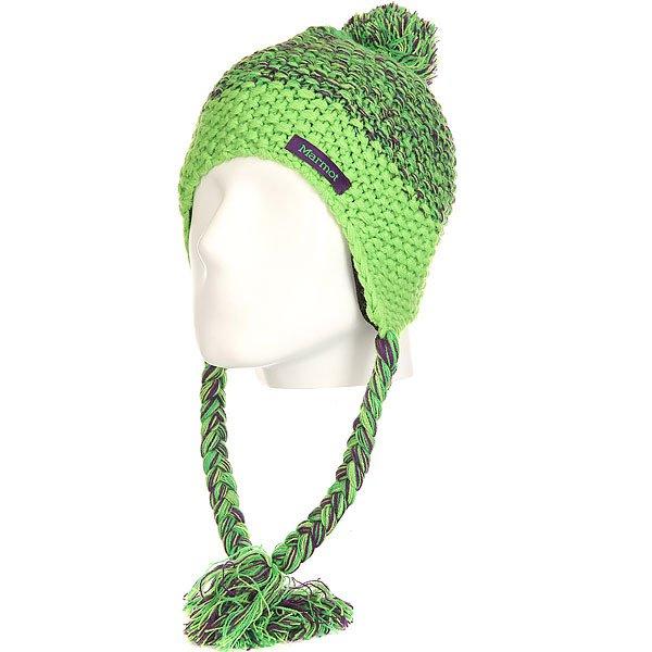 Шапка ушанка женская Marmot Gracie Hat Green Envy<br><br>Цвет: зеленый,фиолетовый<br>Тип: Шапка ушанка<br>Возраст: Взрослый<br>Пол: Женский