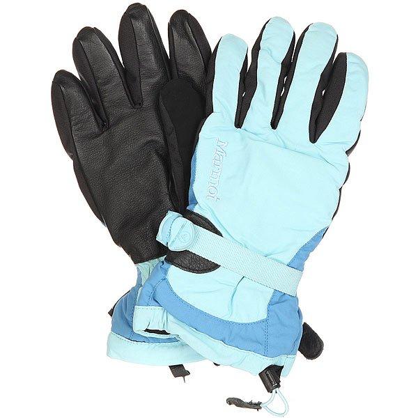 Перчатки сноубордические женские Marmot Piste Glove Blue Sky/Blue JayВодонепроницаемые и дышащие перчатки Piste одни из самых популярных в линейке Marmot благодаря мембране Gore-Tex® и нейлоновой вставке Membrain®.Технические характеристики: Артикулированный крой для удобства захвата.Подкладка из мягкого полиэстера для комфорта.Регулируемое запястье.Утяжка и безопасный лиш.Вставка на большом пальце для протирки носа.Утеплитель.Кожаные ладони.<br><br>Цвет: голубой,черный,синий<br>Тип: Перчатки сноубордические<br>Возраст: Взрослый<br>Пол: Женский