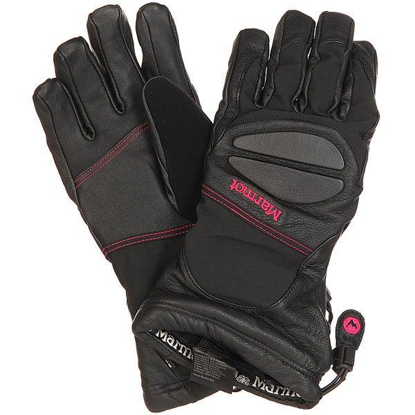 Фото Перчатки сноубордические женские Marmot Access Glove Black/Bright Rose. Купить с доставкой