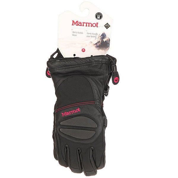 Перчатки сноубордические женские Marmot Access Glove Black/Bright Rose