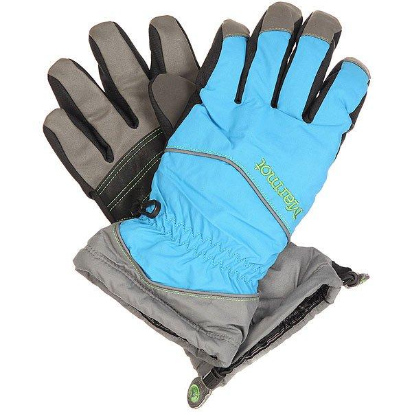 Перчатки сноубордические женские Marmot Caldera Glove Cinder/Methyl Blue<br><br>Цвет: голубой,серый,черный<br>Тип: Перчатки сноубордические<br>Возраст: Взрослый<br>Пол: Женский