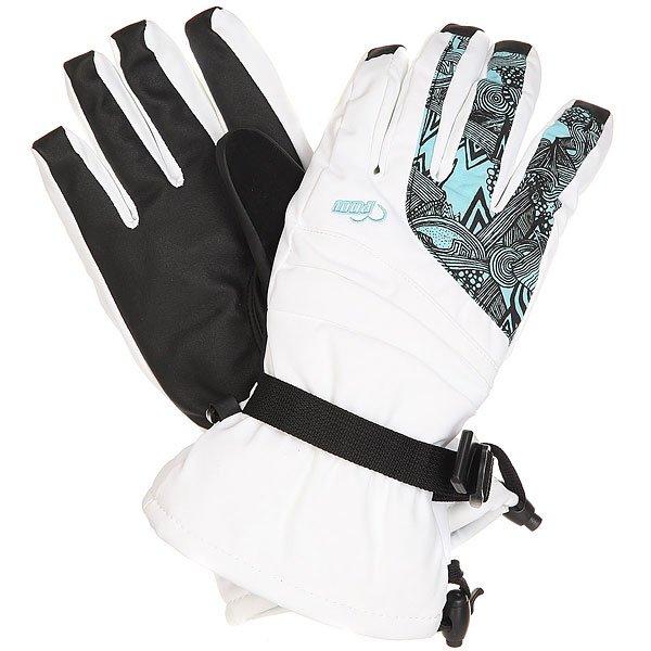 Перчатки сноубордические женские Pow Falon Glove White<br><br>Цвет: белый,черный,голубой<br>Тип: Перчатки сноубордические<br>Возраст: Взрослый<br>Пол: Женский