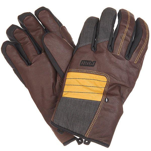 Перчатки сноубордические Pow Villain Glove Brown<br><br>Цвет: черный,коричневый<br>Тип: Перчатки сноубордические<br>Возраст: Взрослый<br>Пол: Мужской