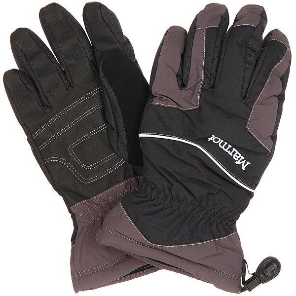 Перчатки сноубордические Marmot Caldera Glove Black/Dark GraniteПерчатки Marmot Caldera Glove- потрясающе много комфорта и защиты по разумной цене. Секрет перчаток Caldera заключается в эффективной водонепроницаемой и дышащей ткани MemBrain®, синтетическом утеплителе Thermal R™ и в пушистом флисе подкладки, для тепла и комфорта. Удобные особенности, такие, как мягкий сопливчик и страховочная петля просто созданы для жизни на склоне.Характеристики:Водонепроницаемая, дышащая и ветроустойчивая вставка Marmot MemBrain® - для комфорта. Подкладка из флиса. Соколиная хватка - артикулированный крой в области пальцев для ловкости и простоты захвата. Утеплитель Thermal R.  «Сопливчик» - мягкая ткань, чтобы утереть нос.Страховочная петля - перчатки не потеряются, когда вы их сняли с рук.Обновленный дизайн.<br><br>Цвет: черный,серый<br>Тип: Перчатки сноубордические<br>Возраст: Взрослый<br>Пол: Мужской