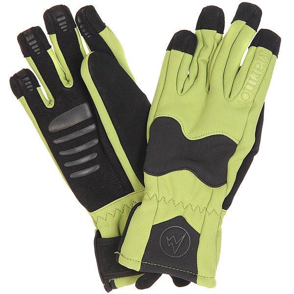 Перчатки сноубордические женские Marmot Glide Softshell Glove Peridot/Black<br><br>Цвет: черный,зеленый<br>Тип: Перчатки сноубордические<br>Возраст: Взрослый<br>Пол: Женский