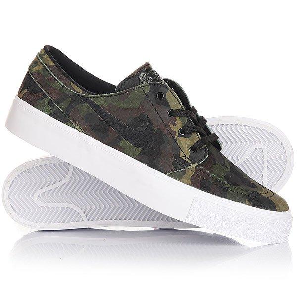 Кеды кроссовки низкие Nike SB Zoom Janoski HT White/Black/Green