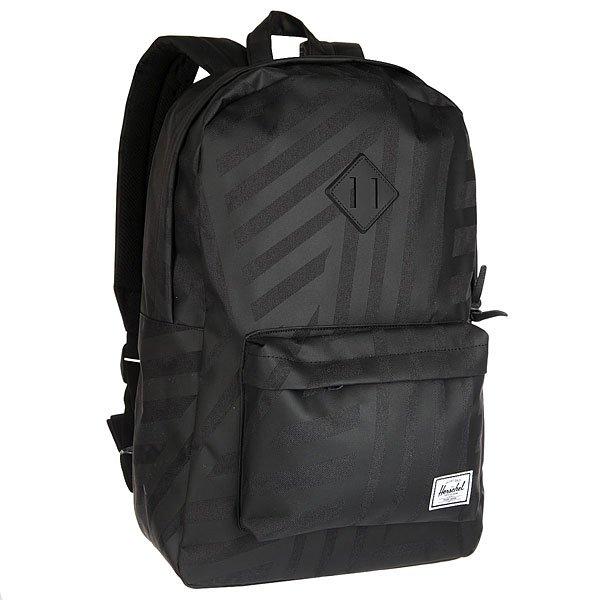 Рюкзак городской Herschel Heritage Dazzle Camo Black Rubber<br><br>Цвет: черный<br>Тип: Рюкзак городской<br>Возраст: Взрослый