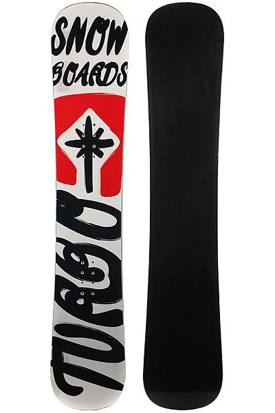 Сноуборд Turbo-FB Turbo Snowboards Logo 2 White/Red/Black