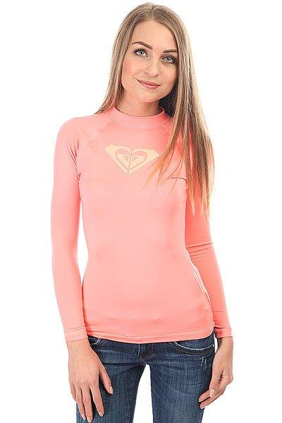 Гидрофутболка женская Roxy Wholeheartls Lady Pink batwing sleeve pocket side curved hem textured dress