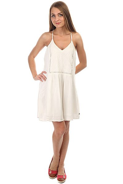 Платье женское Roxy Prismpattern Marshmellow<br><br>Цвет: белый<br>Тип: Платье<br>Возраст: Взрослый<br>Пол: Женский