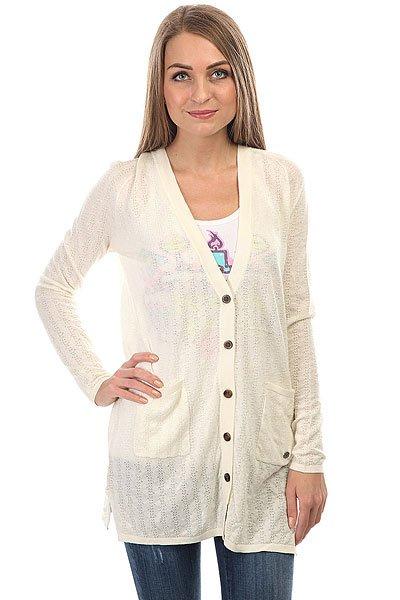 Кардиган женский Roxy Belleisle Marshmellow<br><br>Цвет: бежевый<br>Тип: Кардиган<br>Возраст: Взрослый<br>Пол: Женский