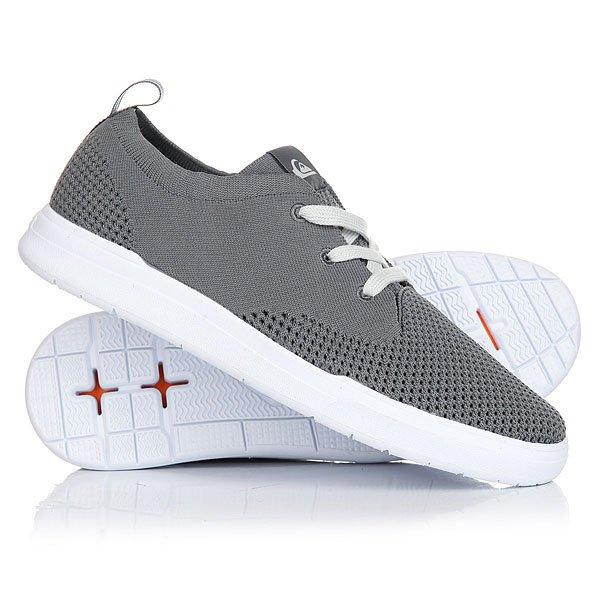 Кеды кроссовки низкие Quiksilver Shorbrkstreknit Grey/White кеды кроссовки низкие детские quiksilver beacon black grey white