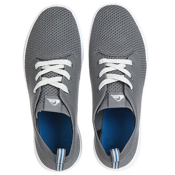 Кеды кроссовки низкие Quiksilver Shorbrkstreknit Grey/White