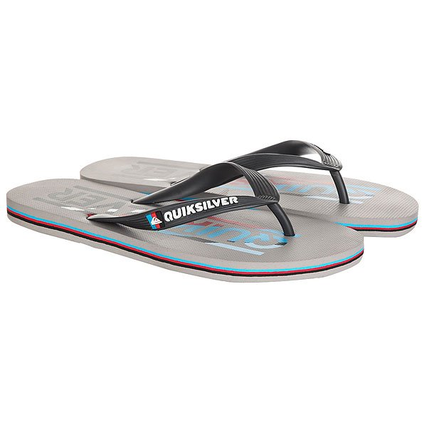 Вьетнамки Quiksilver Molokai Wordmar Grey/Blue