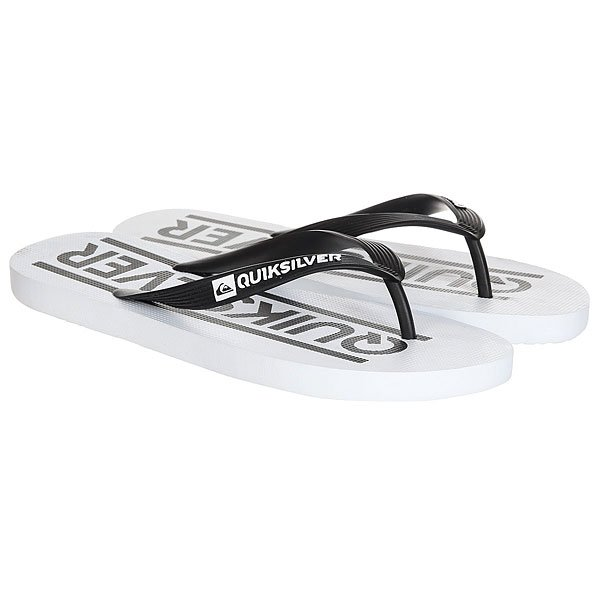 Вьетнамки Quiksilver Java Wordmark Black White