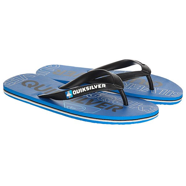 Вьетнамки Quiksilver Molokai Nitro Black/Blue/White вьетнамки quiksilver java wordmark black blue