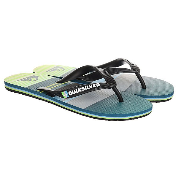 Вьетнамки Quiksilver Molokai Everyda Black/Green/Grey