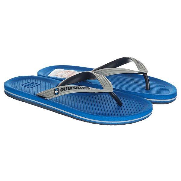 Вьетнамки Quiksilver Haleiwa Grey/Blue<br><br>Цвет: синий,серый<br>Тип: Вьетнамки<br>Возраст: Взрослый<br>Пол: Мужской