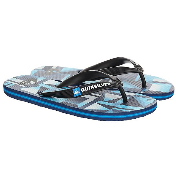 Вьетнамки Quiksilver Haleiwa Black/Blue/Green вьетнамки quiksilver java wordmark black blue