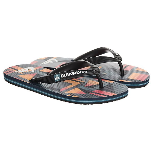 Вьетнамки Quiksilver Molokai Layback Black/Red вьетнамки quiksilver molokai layback black red green