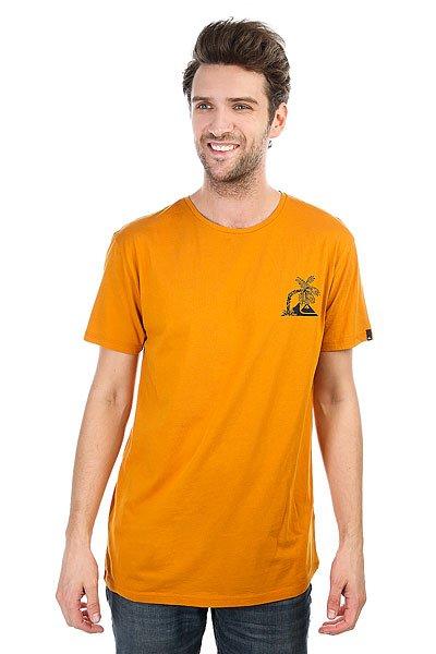 Футболка Quiksilver Surfneverdies Golden Glow<br><br>Цвет: оранжевый<br>Тип: Футболка<br>Возраст: Взрослый<br>Пол: Мужской