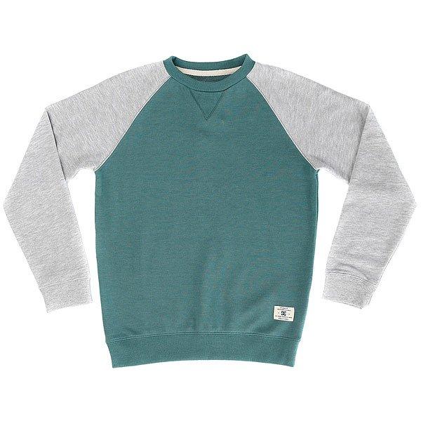 Толстовка свитшот детская DC Rebel Cre Ragby Sea Pine<br><br>Цвет: серый,зеленый<br>Тип: Толстовка свитшот<br>Возраст: Детский