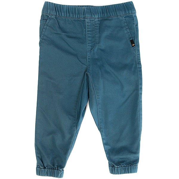 Штаны прямые детские Quiksilver Fonicbaby I Indian Teal<br><br>Цвет: синий<br>Тип: Штаны прямые<br>Возраст: Детский