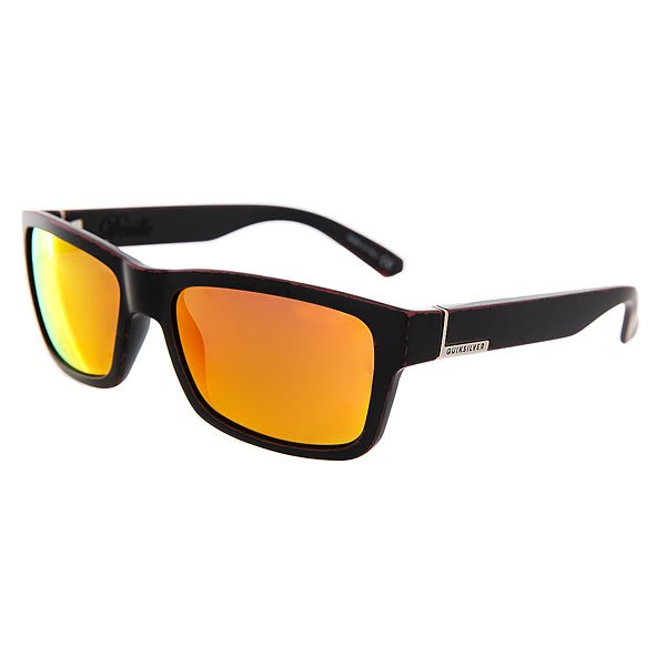 Очки Quiksilver Deville Matte Black-worn Red очки quiksilver hideout plz pc matte black yellow p
