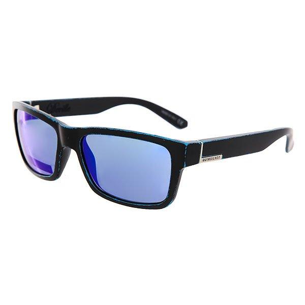 Очки Quiksilver Deville Matte Black-worn Blue очки корригирующие grand очки готовые 3 5 g1178 c12
