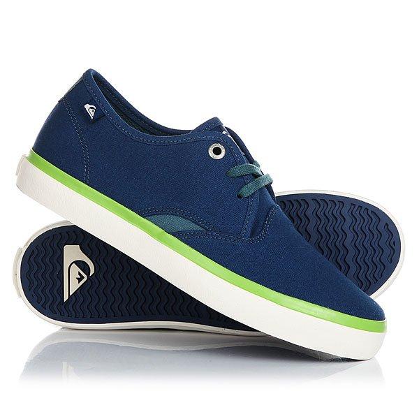 Кеды кроссовки низкие детские Quiksilver Shorebreak Blue White Green кеды кроссовки низкие детские quiksilver beacon black black grey