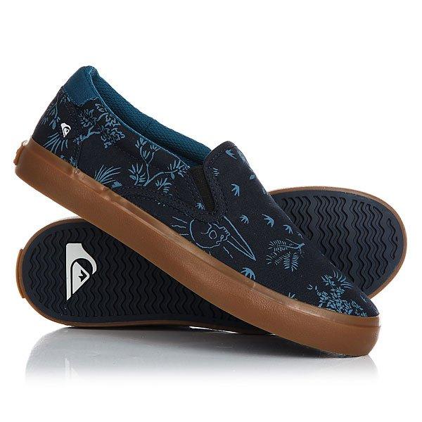 Слипоны детские Quiksilver Shorebrkslip Blue WhiteСамая удобная и простая обувь - это слипоны. Мягкие и невероятно удобныеQuiksilver Shorebreak со стильным принтом этого сезона с легкостью впишутся в любой гардероб.Характеристики:Цепкий фирменный протектор Quiksilver.Удобная стелька. Материал: прочный текстиль. Эластичные резинки по бокам.<br><br>Цвет: синий<br>Тип: Слипоны<br>Возраст: Детский