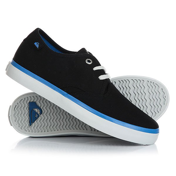 Кеды кроссовки низкие детские Quiksilver Shorebreak Black Blue Grey кеды кроссовки низкие детские quiksilver beacon black black grey