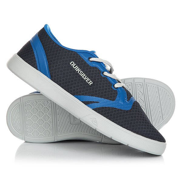 Кеды кроссовки низкие детские Quiksilver Oceanside Blue Grey кроссовки quiksilver ag47 amphibian shoe grey green