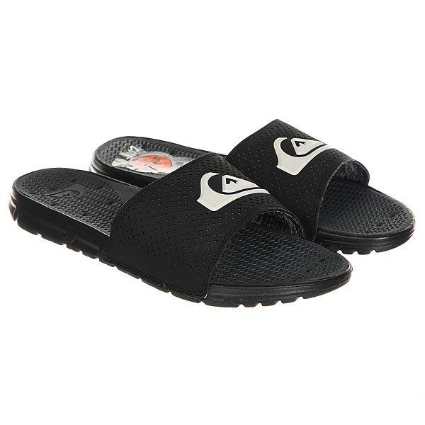 Шлепанцы Quiksilver Amphibian Slide Black White<br><br>Цвет: черный<br>Тип: Шлепанцы<br>Возраст: Взрослый<br>Пол: Мужской