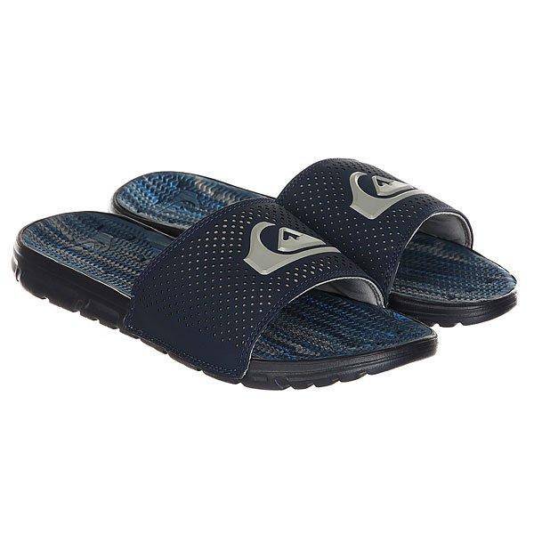 Шлепанцы Quiksilver Amphibian Slide Blue Grey<br><br>Цвет: синий,серый<br>Тип: Шлепанцы<br>Возраст: Взрослый<br>Пол: Мужской