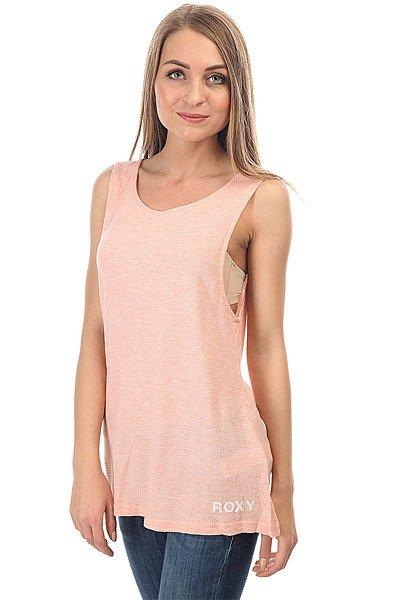 Майка женская Roxy Allpossible Peach Pearl<br><br>Цвет: розовый<br>Тип: Майка<br>Возраст: Взрослый<br>Пол: Женский