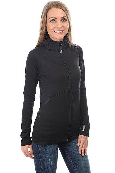 Толстовка классическая женская Roxy Dailyrun Fleece Anthracite<br><br>Цвет: черный<br>Тип: Толстовка классическая<br>Возраст: Взрослый<br>Пол: Женский