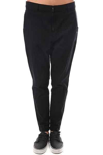 Штаны прямые женские Roxy Slowpointpant Anthracite<br><br>Цвет: черный<br>Тип: Штаны прямые<br>Возраст: Взрослый<br>Пол: Женский